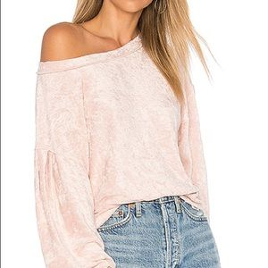 FREE PEOPLE Milan Layering Pullover Sweater Pink
